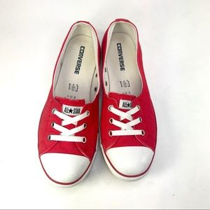 Converse All Star Lace up Ballet Sneaker 9.5